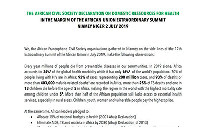 The African Civil Society Declaration