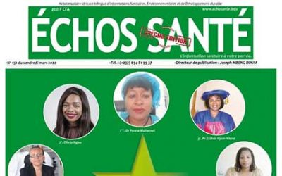ECHOS SANTE makes Olivia Ngou, Founder & Executive Director of Impact Santé Afrique, one of the 10 women Health leaders in Cameroon