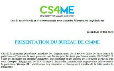 Présentation des membres du bureau CS4ME
