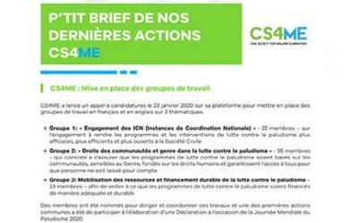 NEWSLETTER : Découvrez nos actions CS4ME de Janvier à Mars 2020