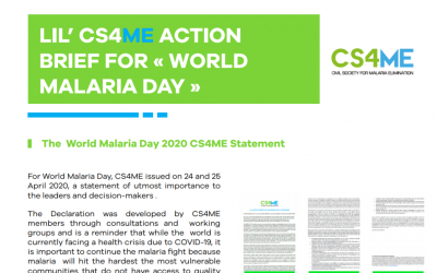 NEWSLETTER : Discover our CS4ME actions for World Malaria Day