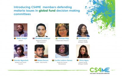 Increasing Malaria Voices from endemic areas: CS4ME Members selected in key decision making spaces at the Global level!