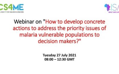 How to develop concrete actions to address the priority issues of malaria vulnerable populations to decision makers